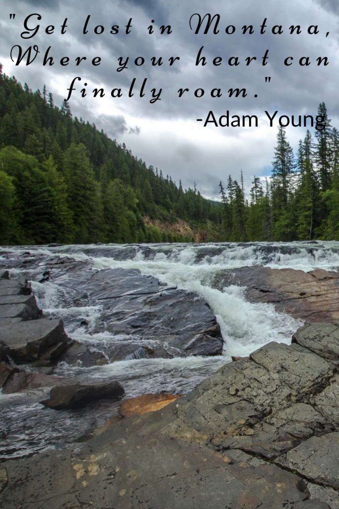 Fast moving mountain stream with Adam Young lyrics