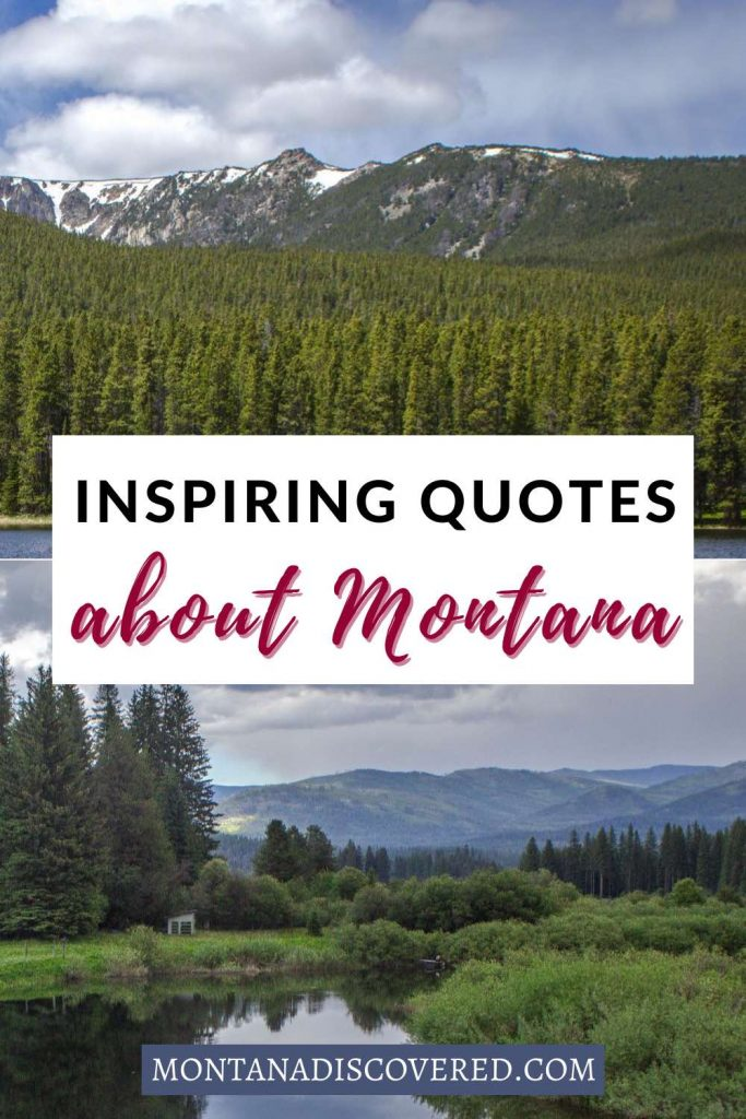 Most people from Montana - and even many visitors - have a deep love for the state. Whether you're a local or a visitor, you'll love these 30 quotes about Montana. They're inspirational, they're funny, and they make perfect Instagram captions, too. #montana #jokes #travelquotes