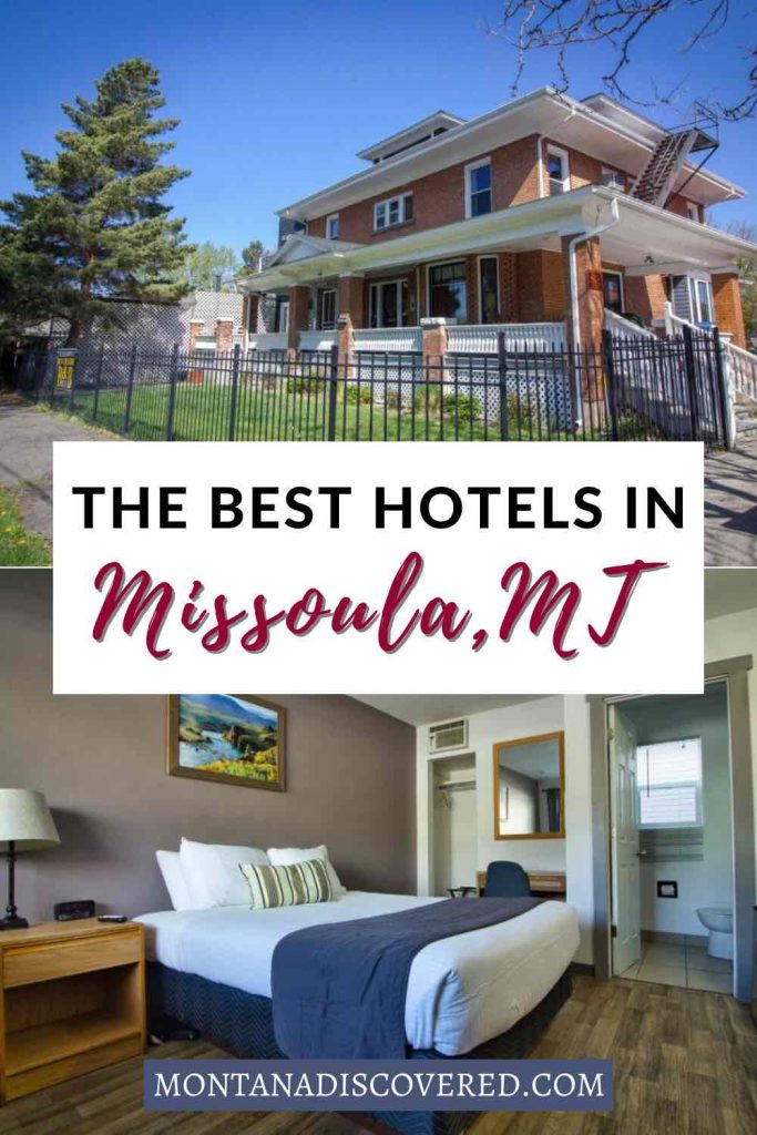 You have your work cut out for you if you're trying to choose from the hotels in Missoula, Montana - because there are tons of choices! But no matter your budget and preferences, there's sure to be a place that will work for you. This guide covers all the top places to stay in Missoula, MT, including historic hotels, bed & breakfasts, and much more. #missoulamontana #missoula #montana