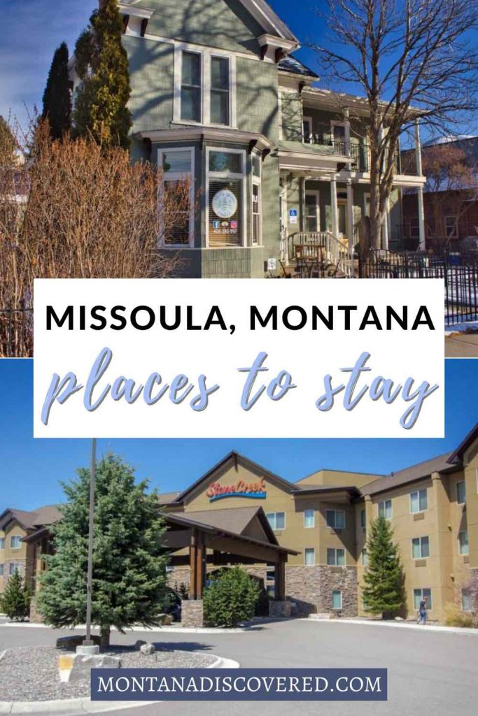 There are so many places to stay in Missoula, Montana, that you'll have a hard time deciding. Whether you want a budget hotel for a quick overnight stay or a luxurious B&B for a romantic getaway, you're sure to find something that'll be perfect. This list includes all the best hotels in Missoula, MT, plus options for camping, Airbnb, and more. #missoula #montana #missoulamt